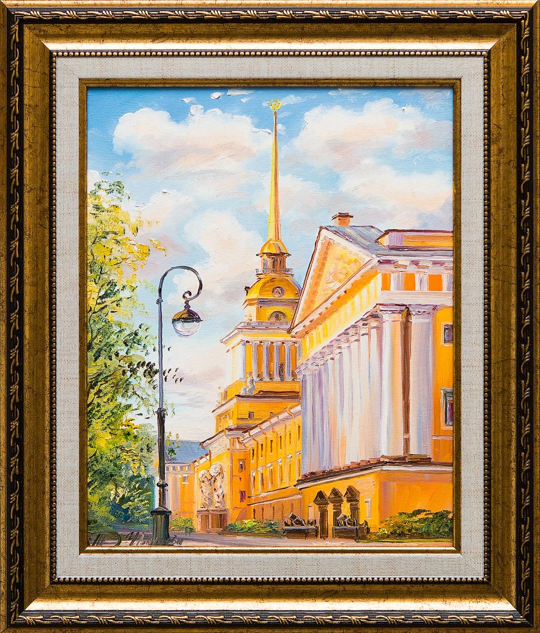открытка спб акварель адмиралтейство
