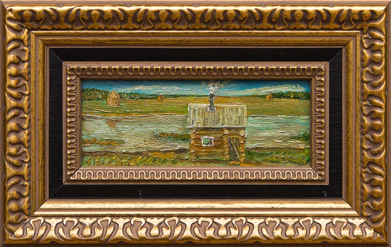 Картина маслом Банька Мифтахов картина маслом подсолнухи мифтахов
