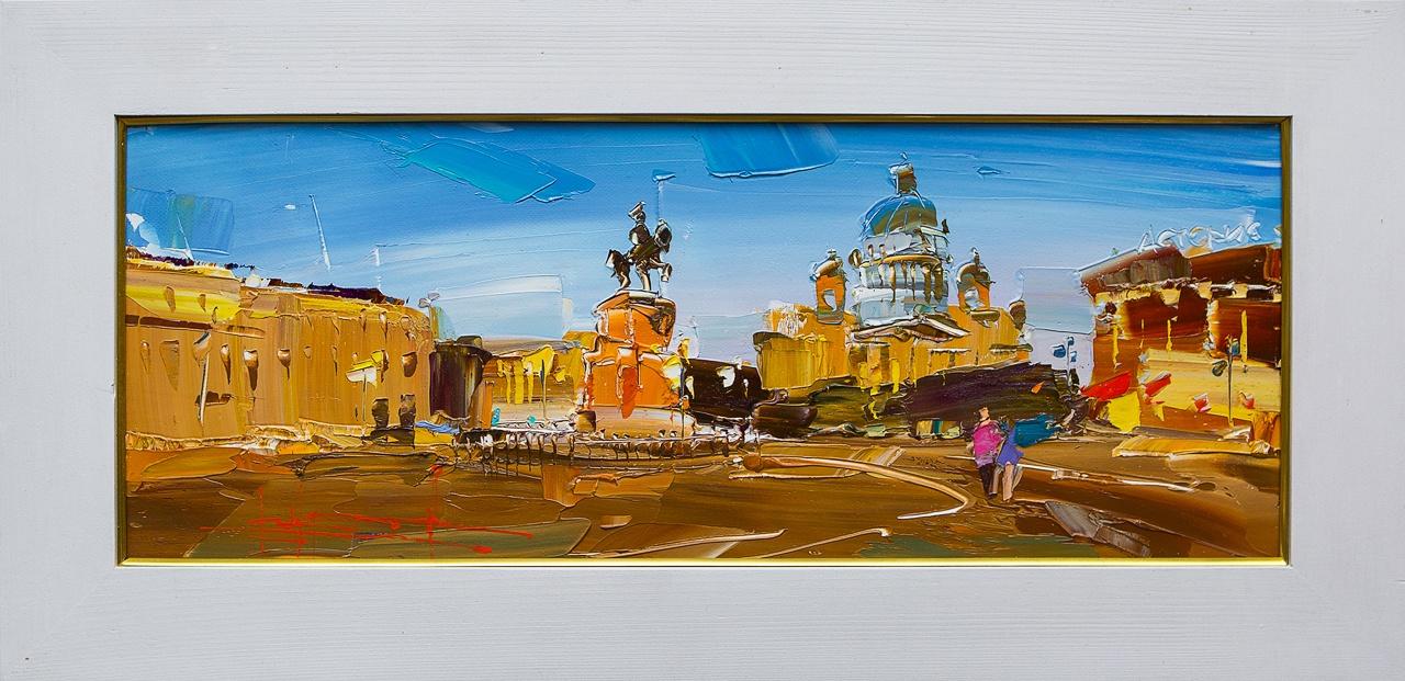 Картина маслом Белые ночи Сухоплюев картина маслом вид с университетской набережной белые ночи воробьев