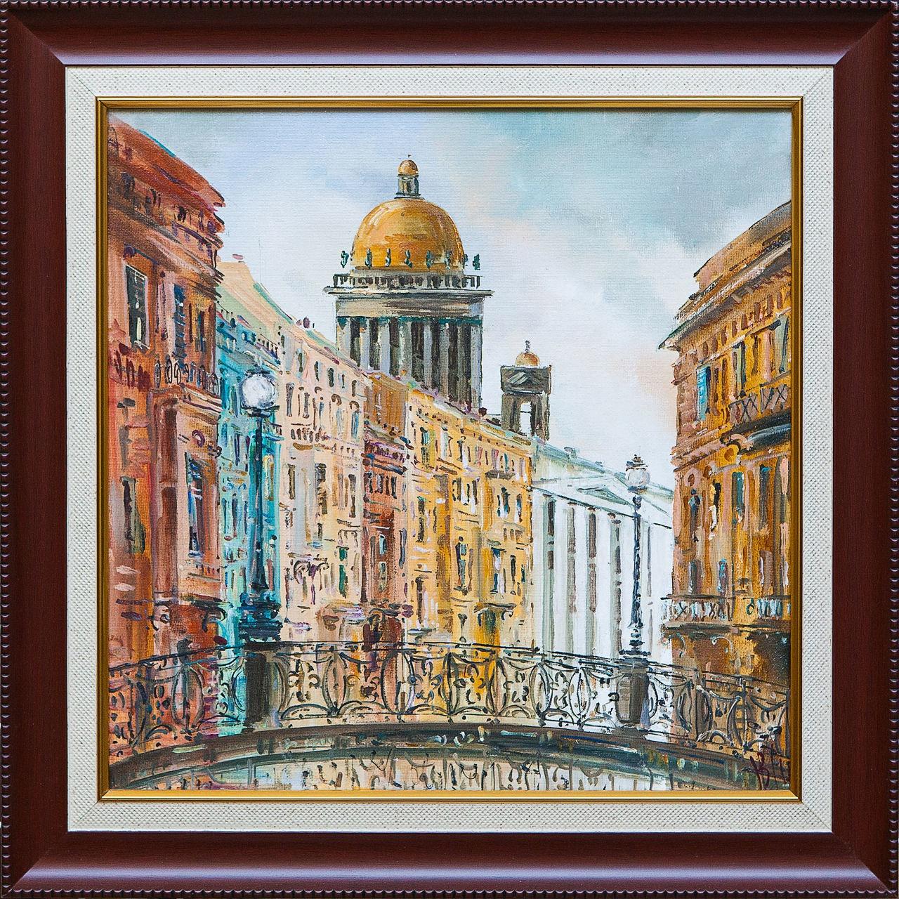 Картина маслом Город Шеренкова картина масло шумный город шеренкова