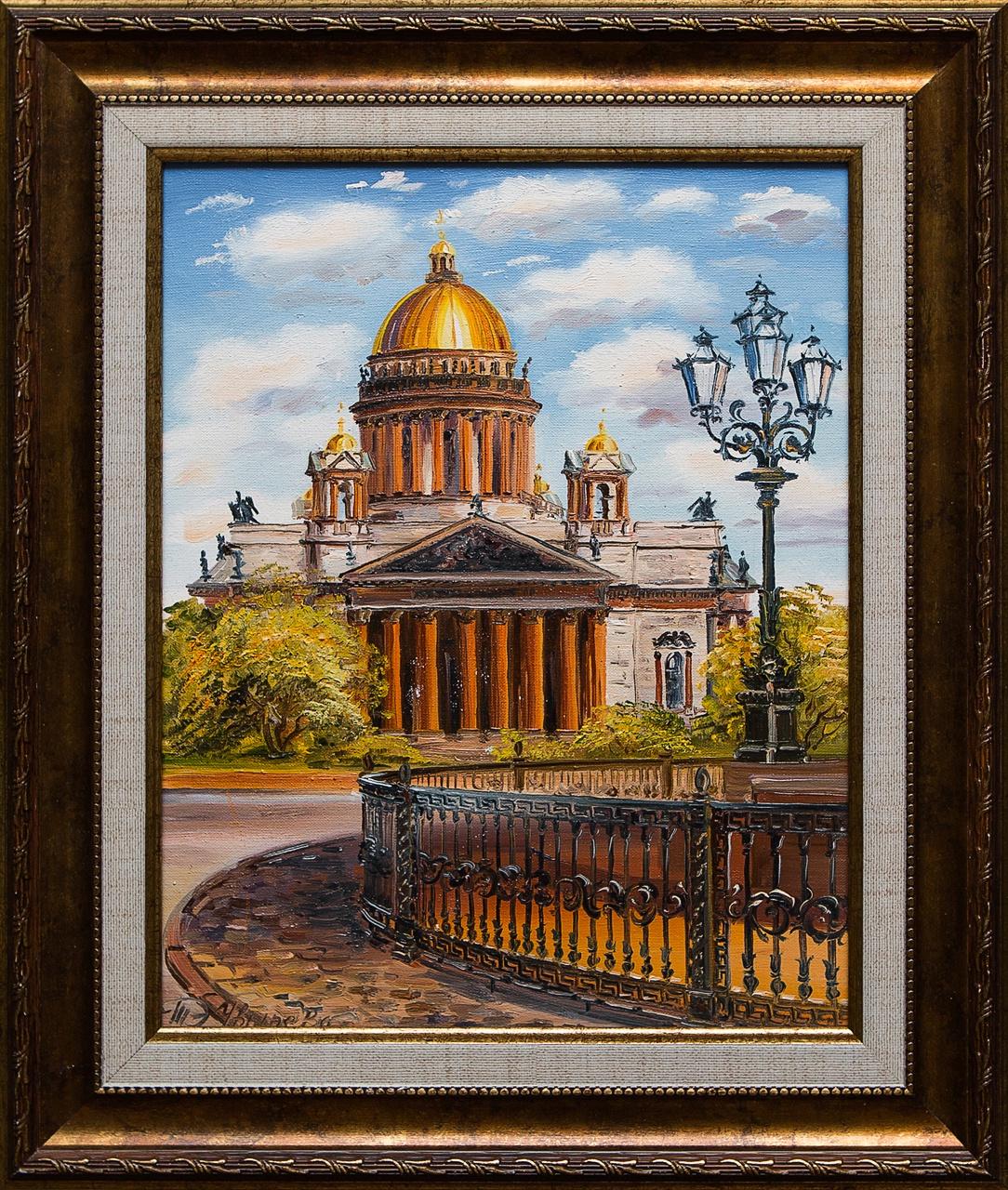 Картина маслом Исаакиевский собор Чвырева картина маслом исаакиевский собор с крыши сухоплюев