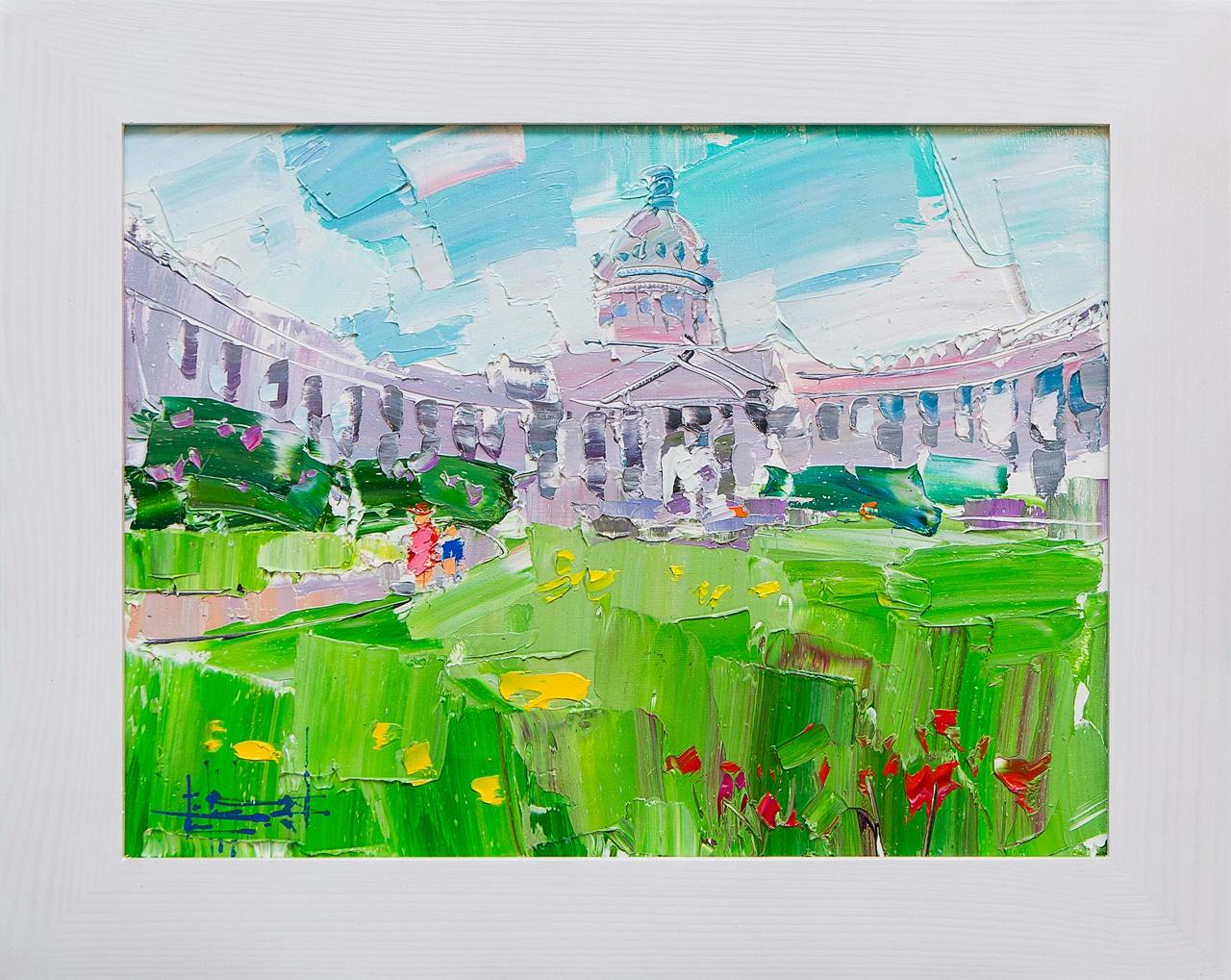 Картина маслом Казанский собор Сухоплюев картина маслом исаакиевский собор с крыши сухоплюев