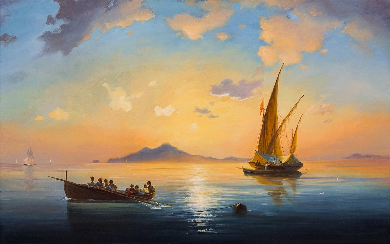 Картина маслом Неаполитанский залив Кривонос m style картина 701 page 5 page 7