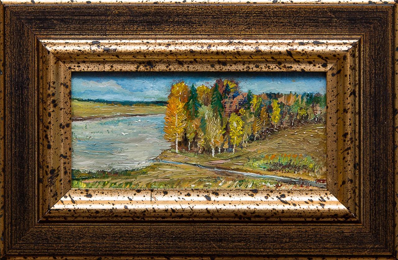 Картина маслом Осенний мотив Мифтахов картина маслом подсолнухи мифтахов