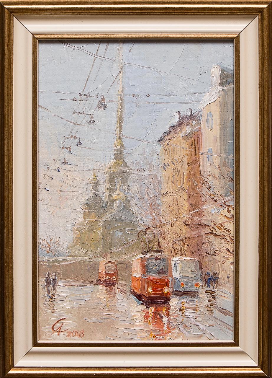 Картина маслом После дождя Степанков картина маслом биржа степанков