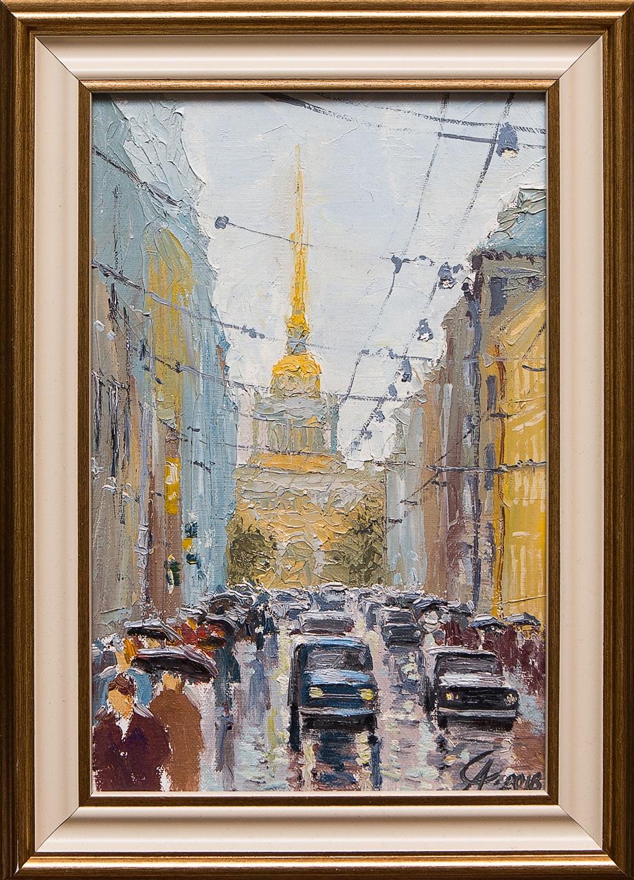 Картина маслом Адмиралтейство Степанков картина маслом биржа степанков
