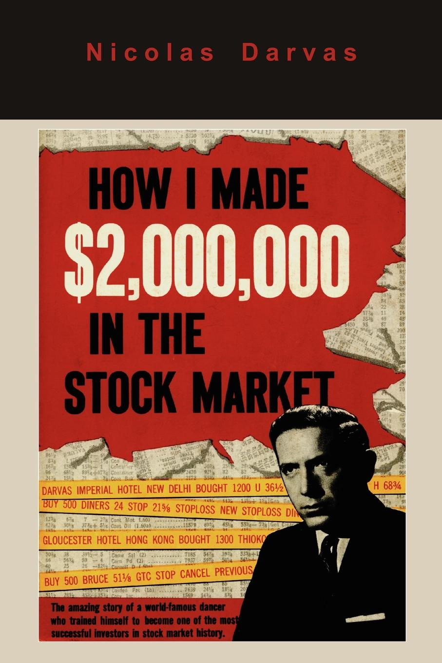 Nicolas Darvas How I Made .2,000,000 in the Stock Market original 1pcs byv20 40 goods in stock