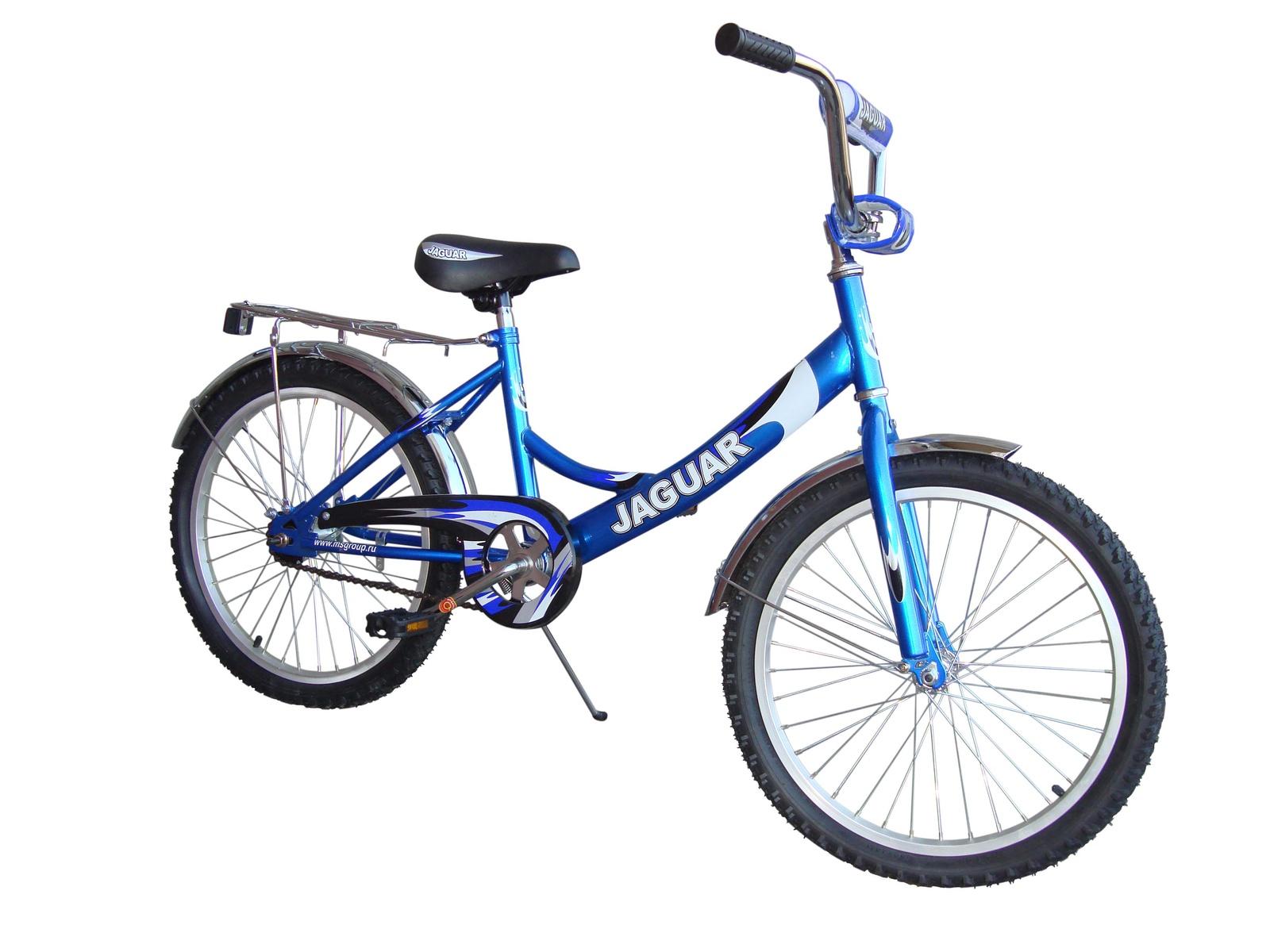 Детский двухколесный велосипед Jaguar MS-202 steel синий