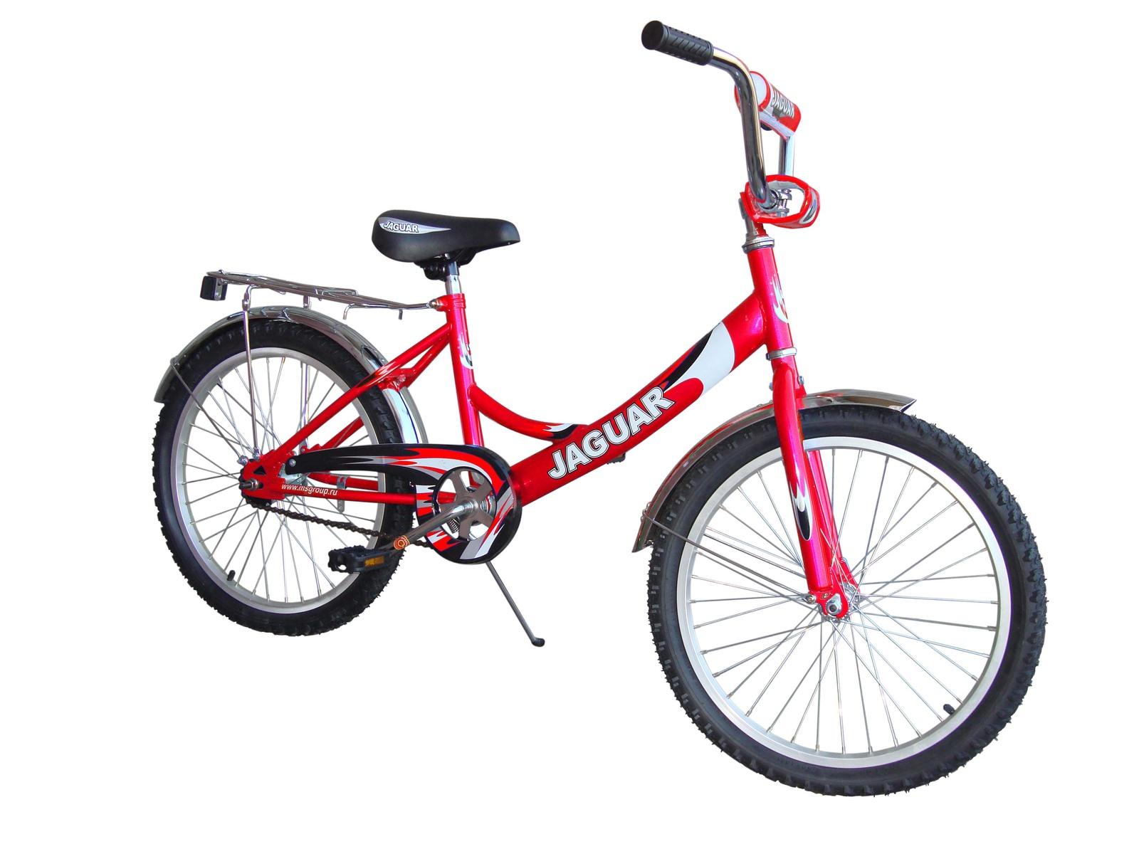 Детский двухколесный велосипед Jaguar MS-202 steel красный