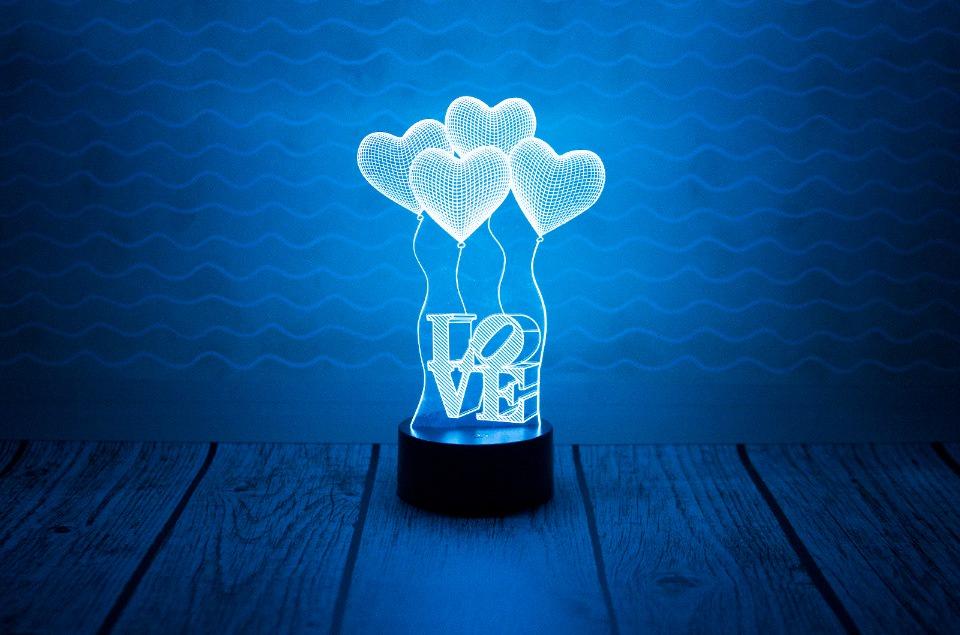 "3D светильник ""LOVE"""