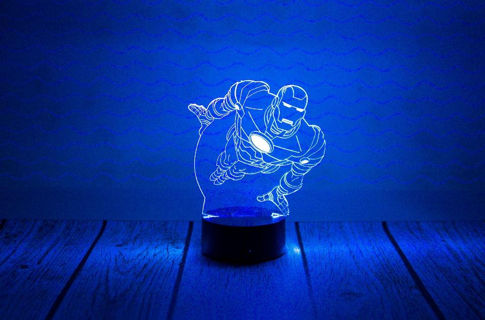 """3D светильник """"Железный человек"""""""