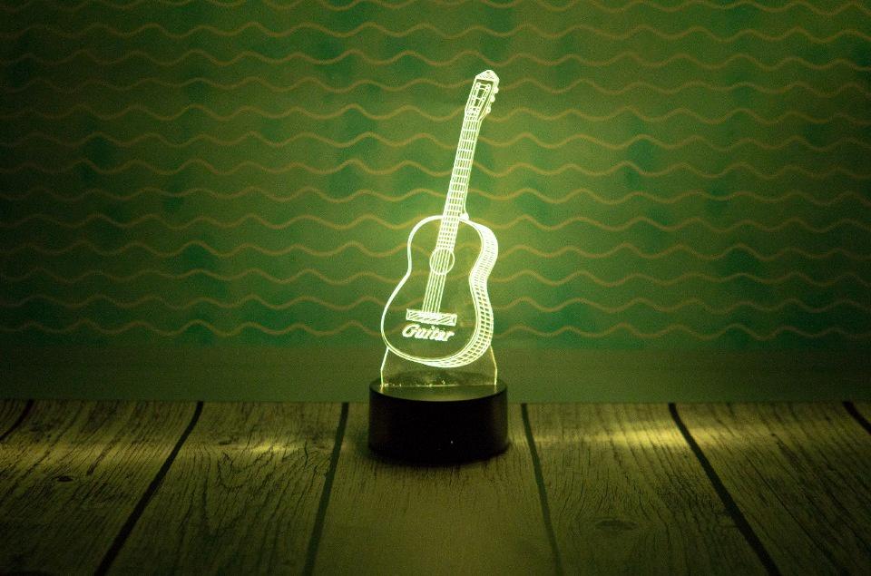 """3D светильник """"Гитара"""""""