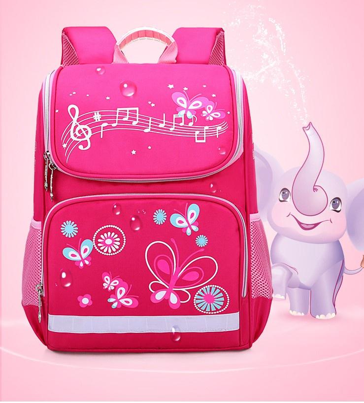 Ранец школьный-бабочки, розовый
