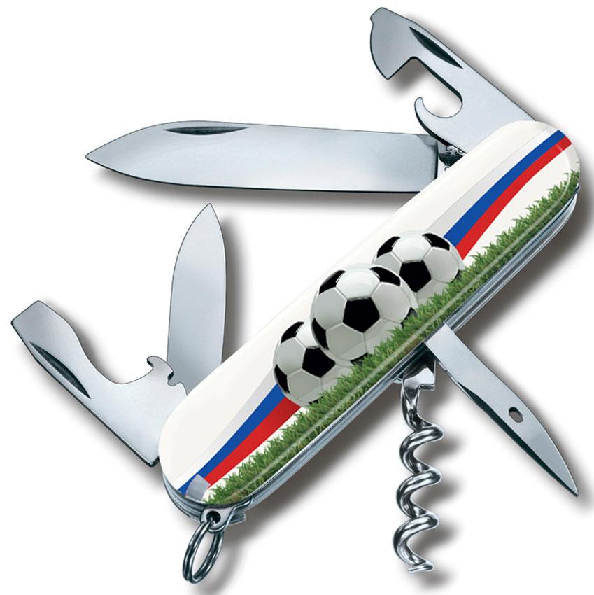 Нож перочинный Victorinox Spartan. Футбольное поле, 12 функций, 9,1 см нож керамический 4дюйма белое лезвие 10 5 2 0 2см рукоятка оранжевая 10 5 2 5 2 5см подаро