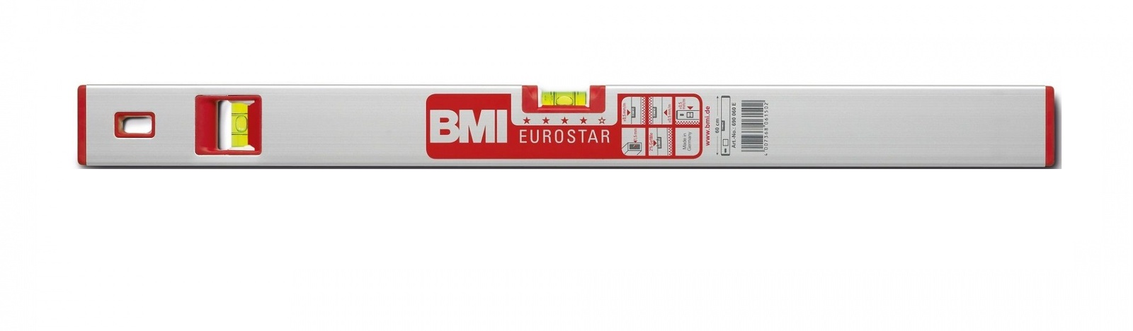 Уровень противоударный EUROSTAR 1000 мм угол 2град. BMI 690100E