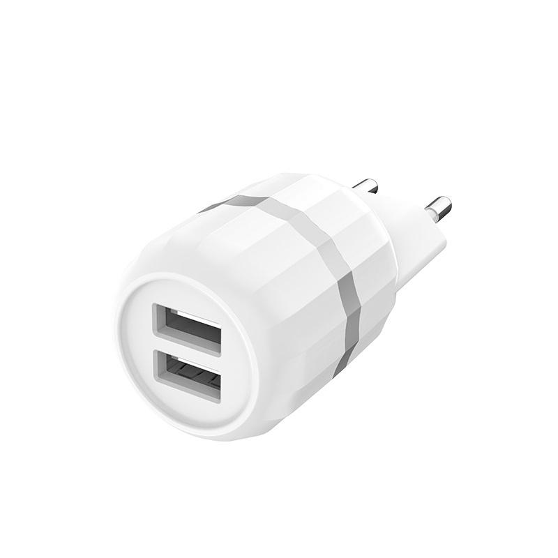 Сетевое зарядное устройство HOCO C41A Wisdom Dual USB Charger lightning 2 USB 2,4A сетевое зарядное устройство hoco uh202 smart charger 2usb 2 4a 0l 00038986 white