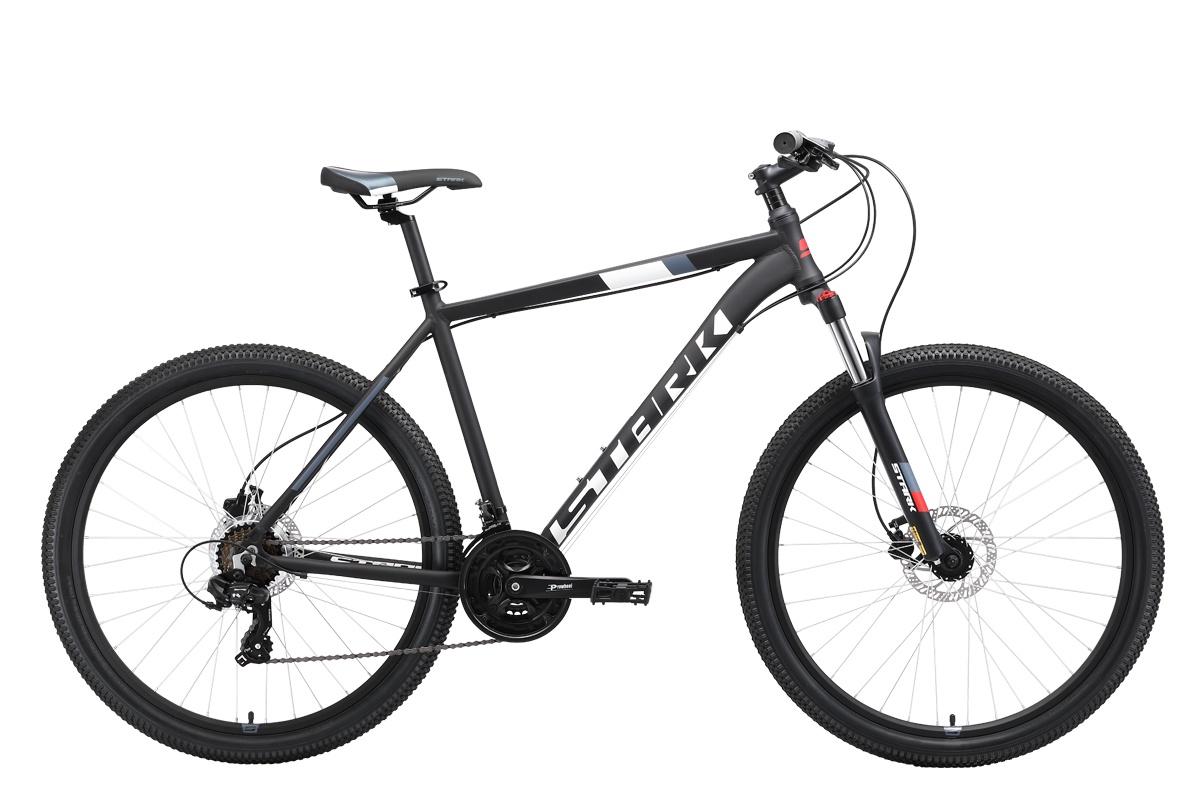 Велосипед STARK Hunter 27.2 HD 2019 18 чёрный/белый/серый/красный