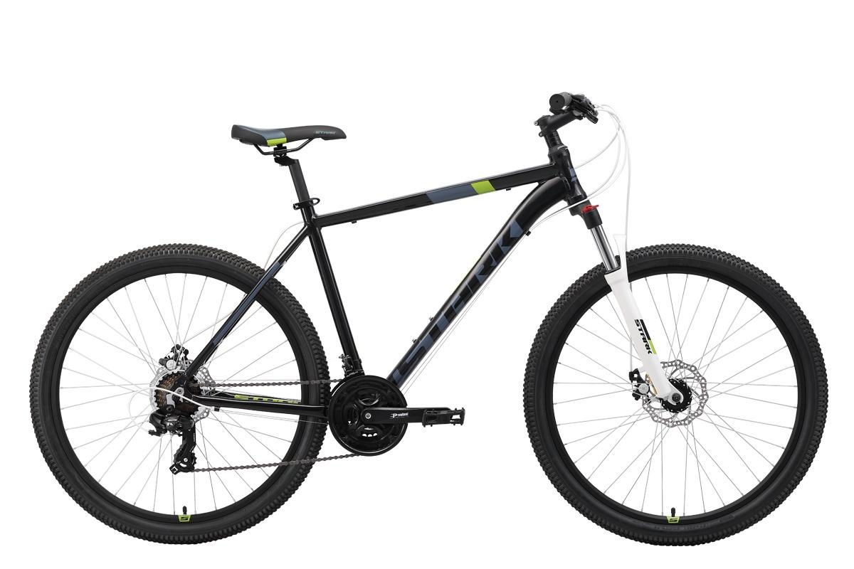 Велосипед STARK Hunter 27.2 D 2019 20 чёрный/серый/зелёный