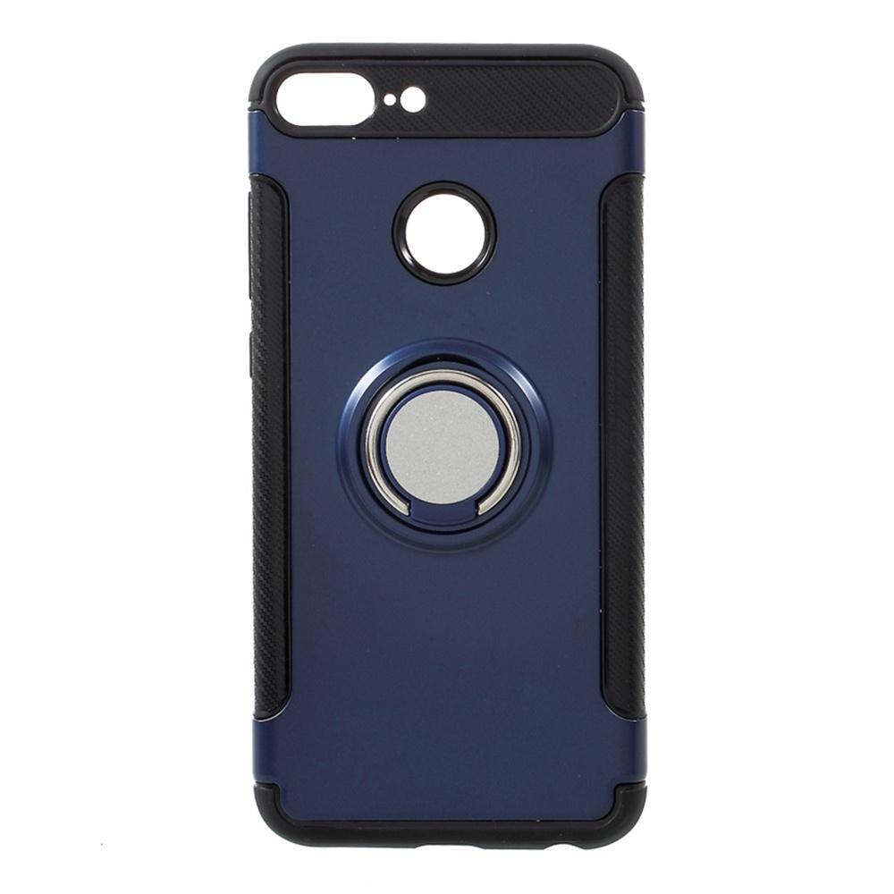 Фото - Honor 9 Lite Накладка резиновая с кольцом и площадкой для магнита Мобильная мода авто