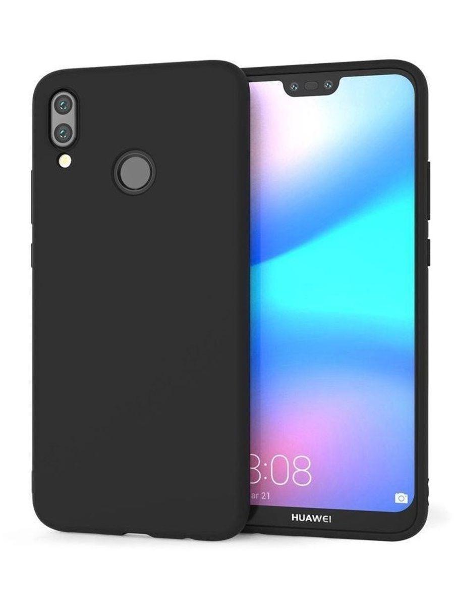 Силиконовый защитный бампер для Huawei P 20 Lite Черный moshiqisuoni c3 сотовый телефон дела небольшой зеленый сердце s55t оболочки sonyc3 силиконовый защитный чехол