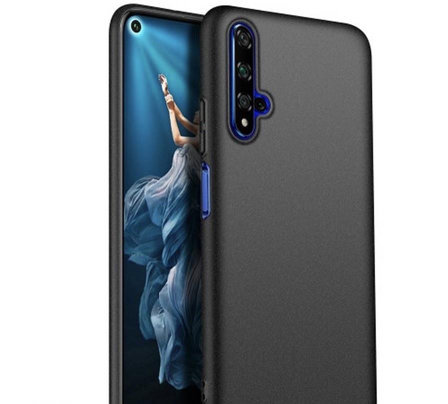Силиконовый защитный бампер для Huawei Honor 20 Черный