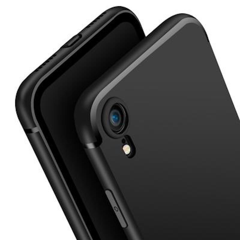 Силиконовый защитный бампер для Apple Iphone XR Черный moshiqisuoni c3 сотовый телефон дела небольшой зеленый сердце s55t оболочки sonyc3 силиконовый защитный чехол