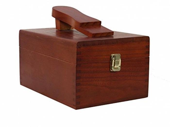 Набор для чистки обуви в деревянной коробке набор средств для чистки fouganza набор по уходу за изделиями из кожи