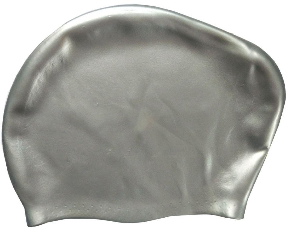 Шапочка для плавания силиконовая Dobest для длинных волос KW10 (серебро) dobest силиконовая шапочка для плавания dobest фиолетовая