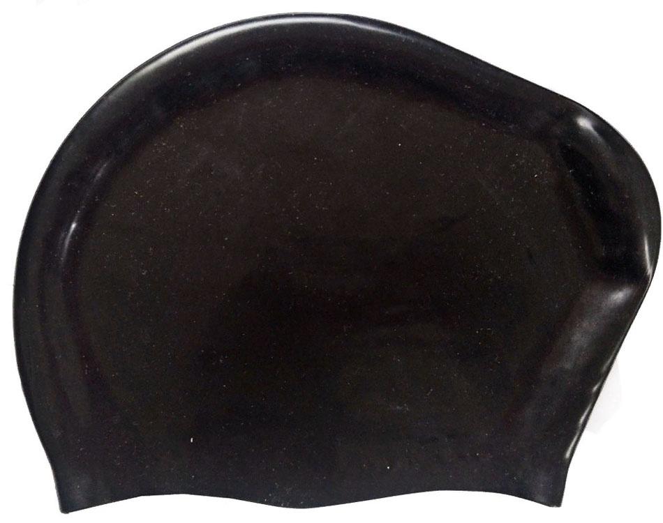 Шапочка для плавания силиконовая Dobest для длинных волос KW20 (черный) dobest силиконовая шапочка для плавания dobest фиолетовая