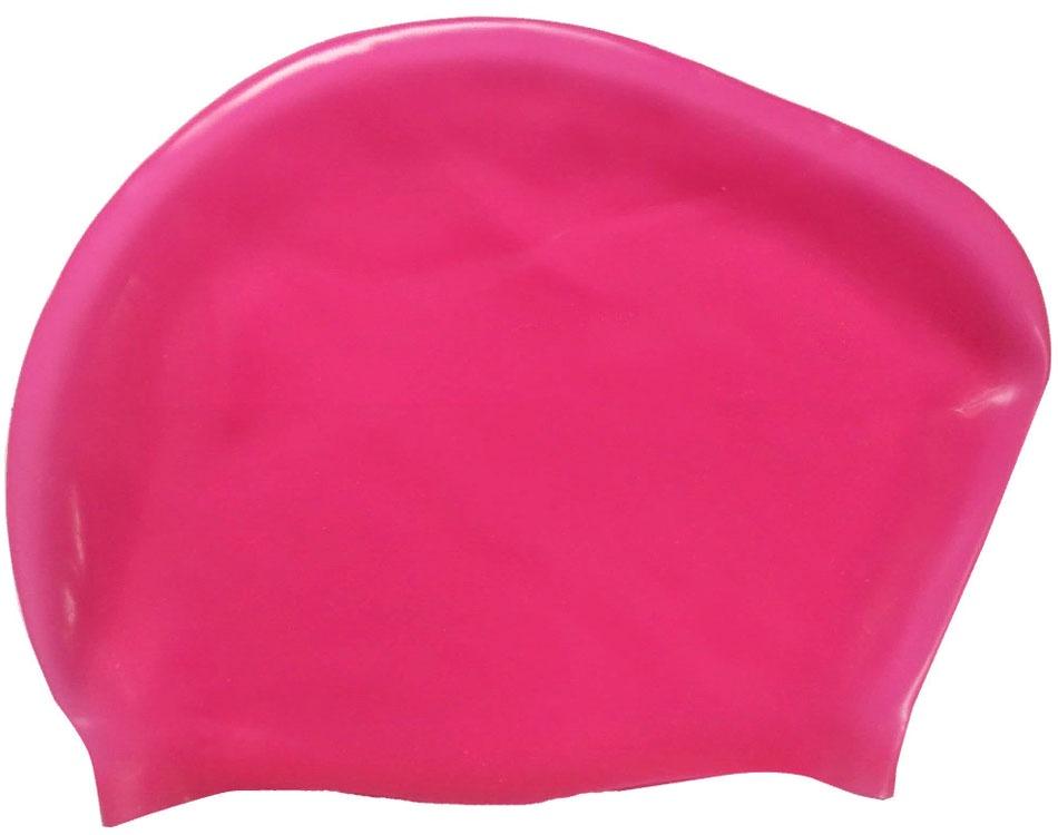Шапочка для плавания силиконовая Dobest для длинных волос KW40 (красный) dobest силиконовая шапочка для плавания dobest фиолетовая