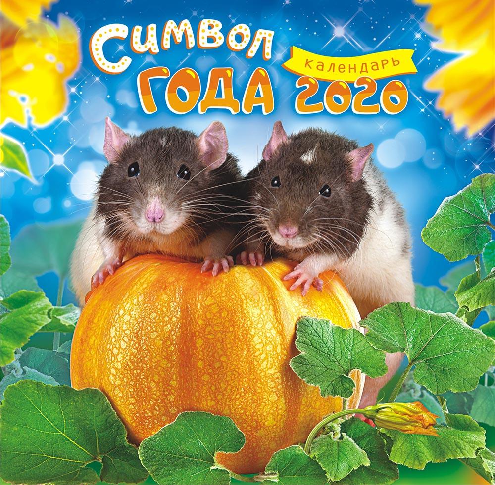 Фото - Календарь перекидной на скрепке большой на 2020 год, Год крысы 300х300 мм БПК-20-006 м 300х300