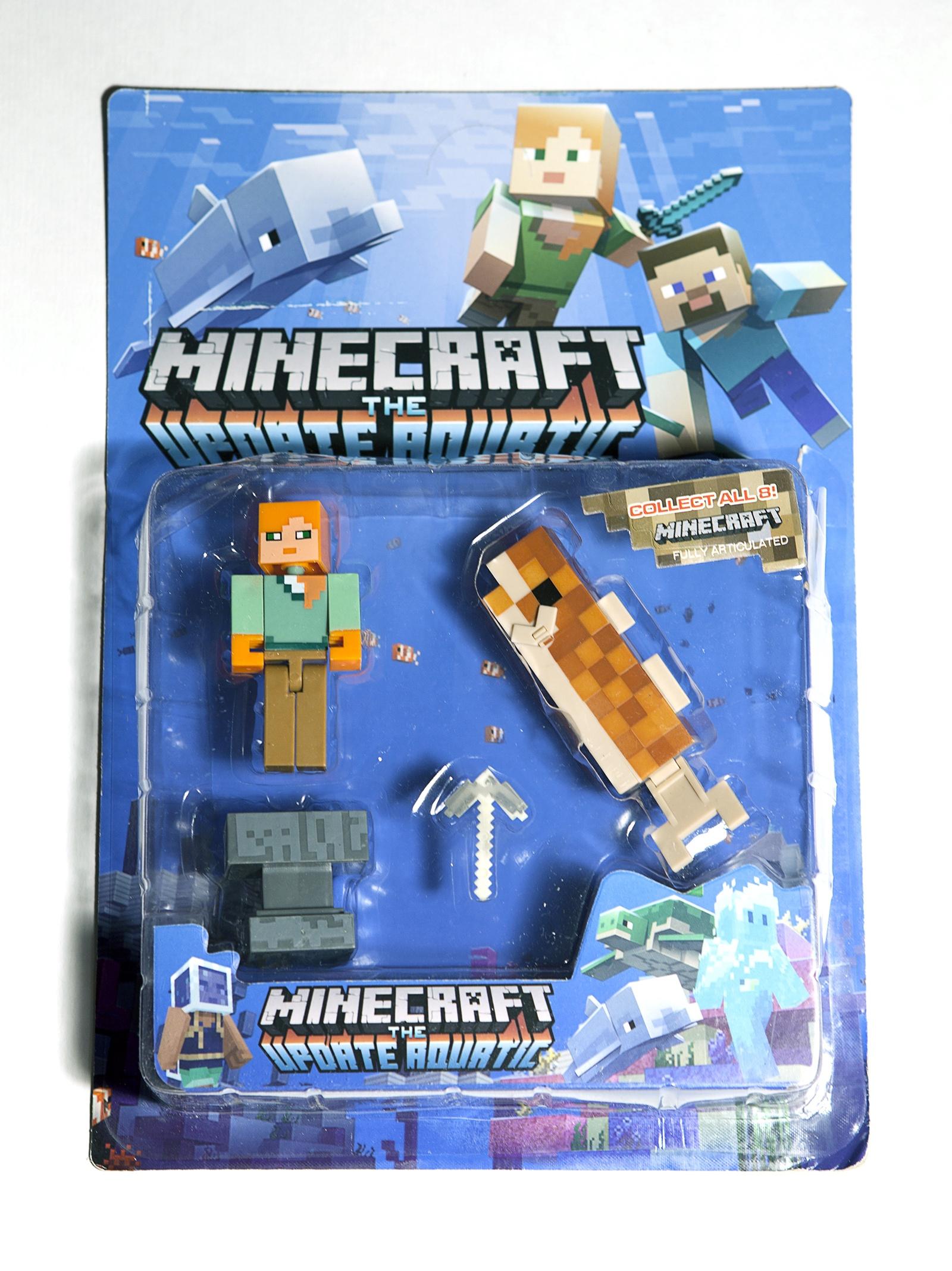 Набор фигурок Minecraft The Update Aquatic small: Pack 6 игровые фигурки 1 toy набор фигурок крысы 6 шт