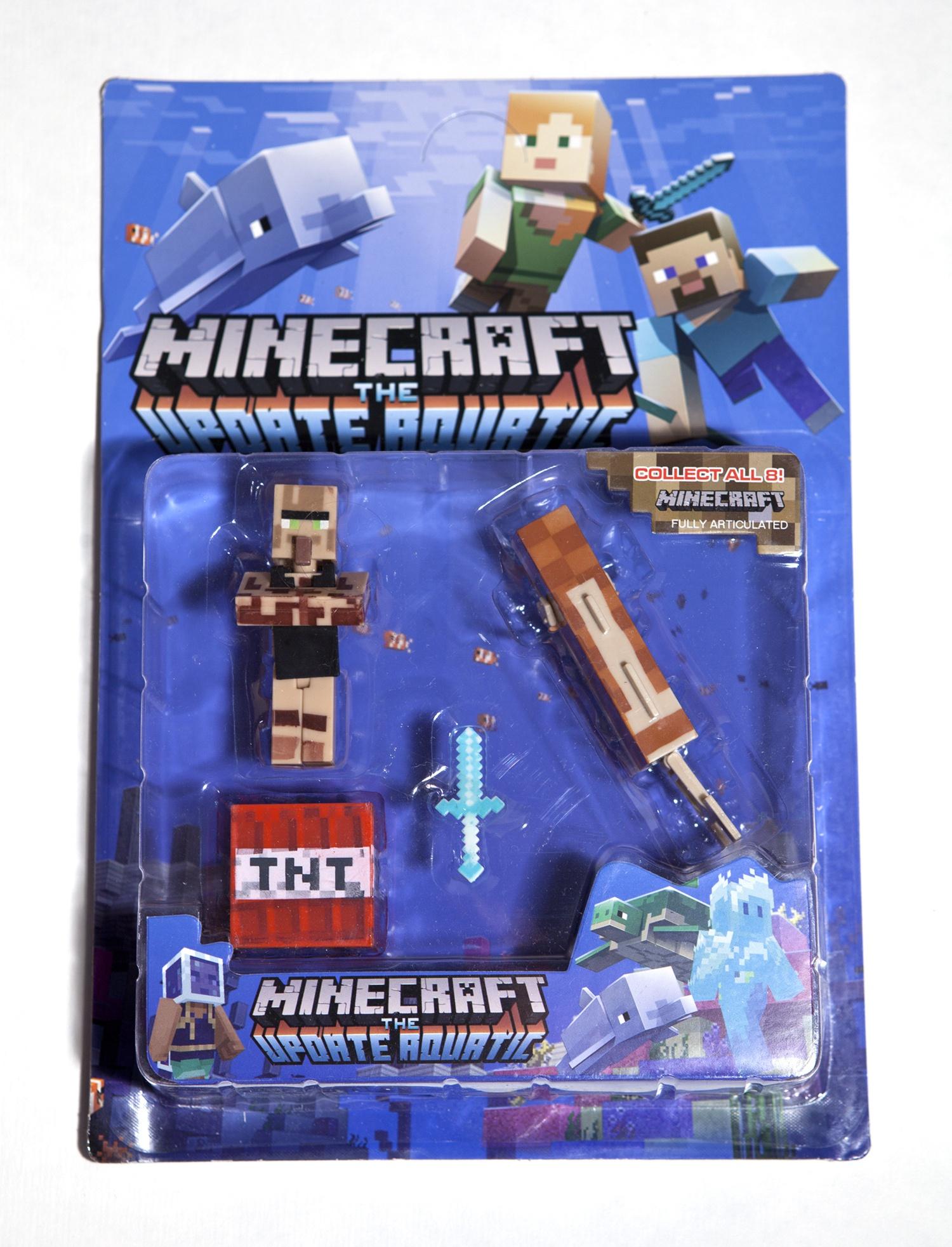 Набор фигурок Minecraft The Update Aquatic small: Pack 4 набор фигурок minecraft blacksmith with apron and anvil 8 см