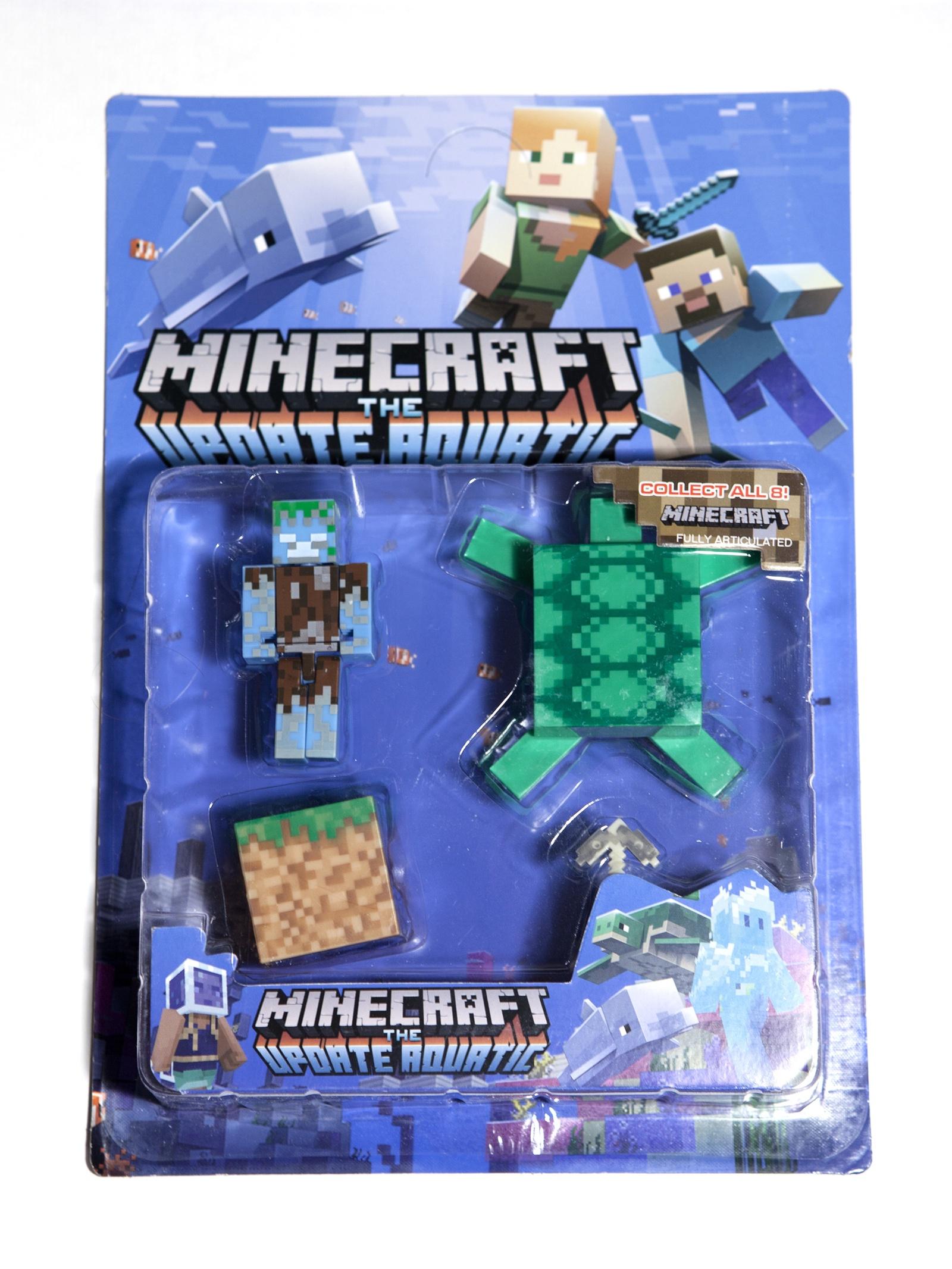 Набор фигурок Minecraft The Update Aquatic small: Pack 5 набор фигурок minecraft blacksmith with apron and anvil 8 см