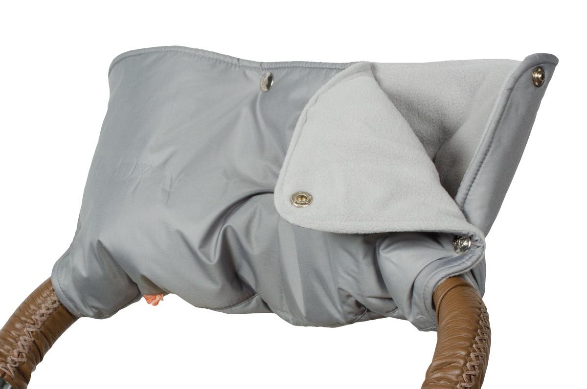 Чудо-Чадо Муфта для рук на коляску флисовая на кнопках цвет серый аксессуары для колясок и автокресел виталфарм муфта для рук на коляску