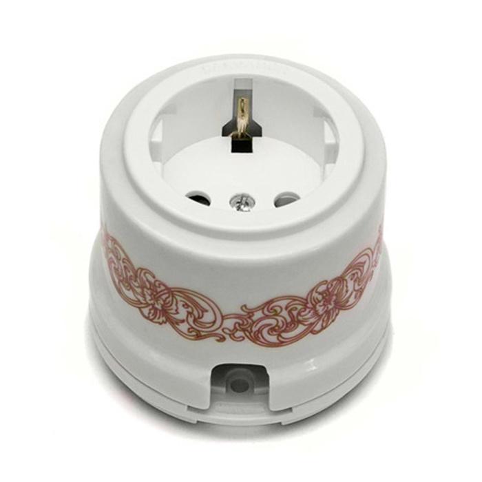 Розетка электрическая Salvador Ретро узор серия для наружного монтажа электрическая розетка siemens 10a