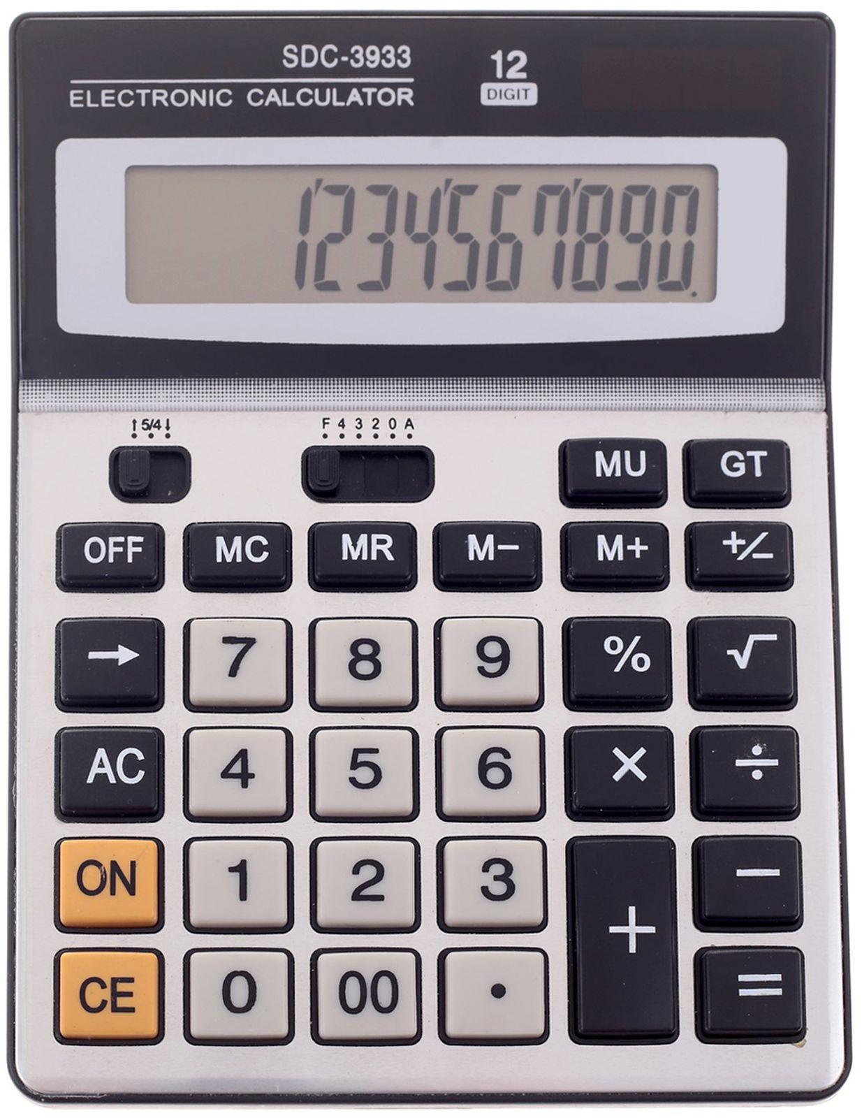 Калькулятор SDC-3933, настольный, 12-разрядный, 135934, мультиколор
