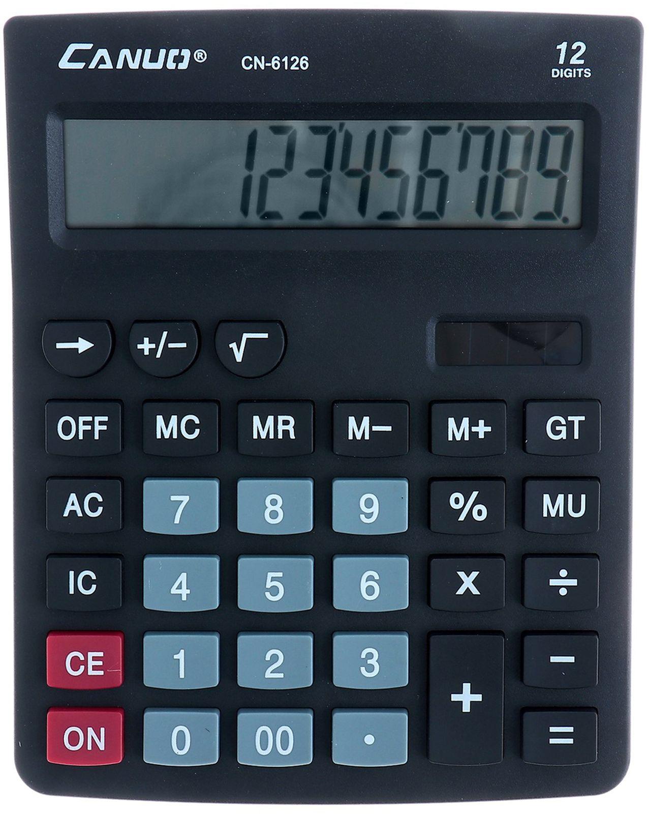 Калькулятор 6126, настольный, 12-разрядный, 1968926, мультиколор