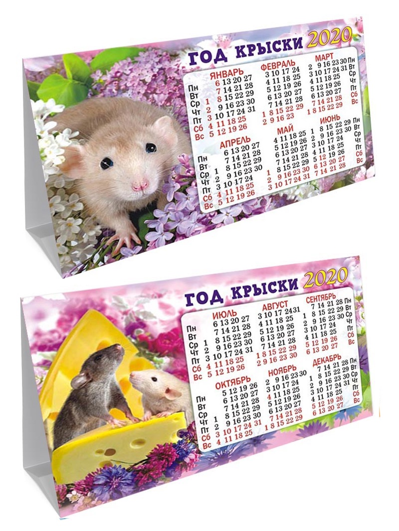 Календарь (домик складной) Год крысы на 2020 год, 188х130мм КДС-20-004
