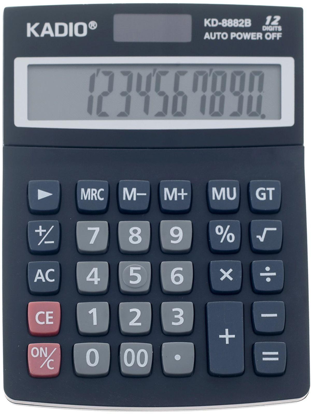 Калькулятор 8882B, настольный, 12-разрядный, 2694281, мультиколор