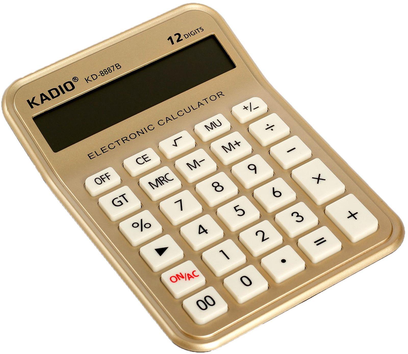 Калькулятор 8887B, настольный, 12-разрядный, 2694283, мультиколор