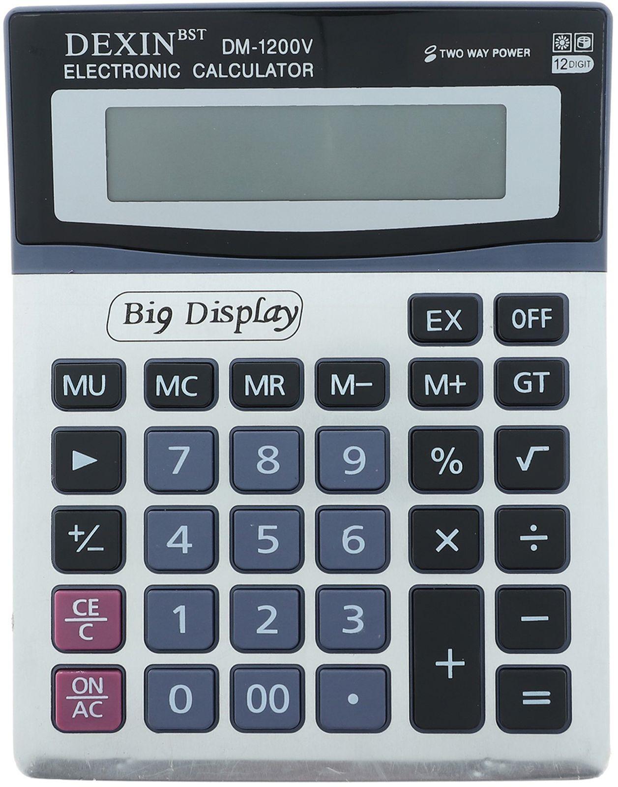Калькулятор 1200V, настольный, 12-разрядный, 588177, мультиколор