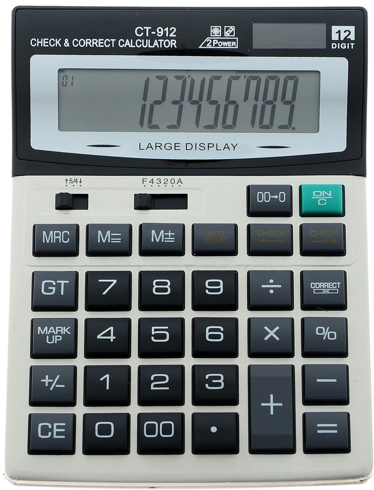 Калькулятор CT-912, настольный, 12-разрядный, 588178, мультиколор