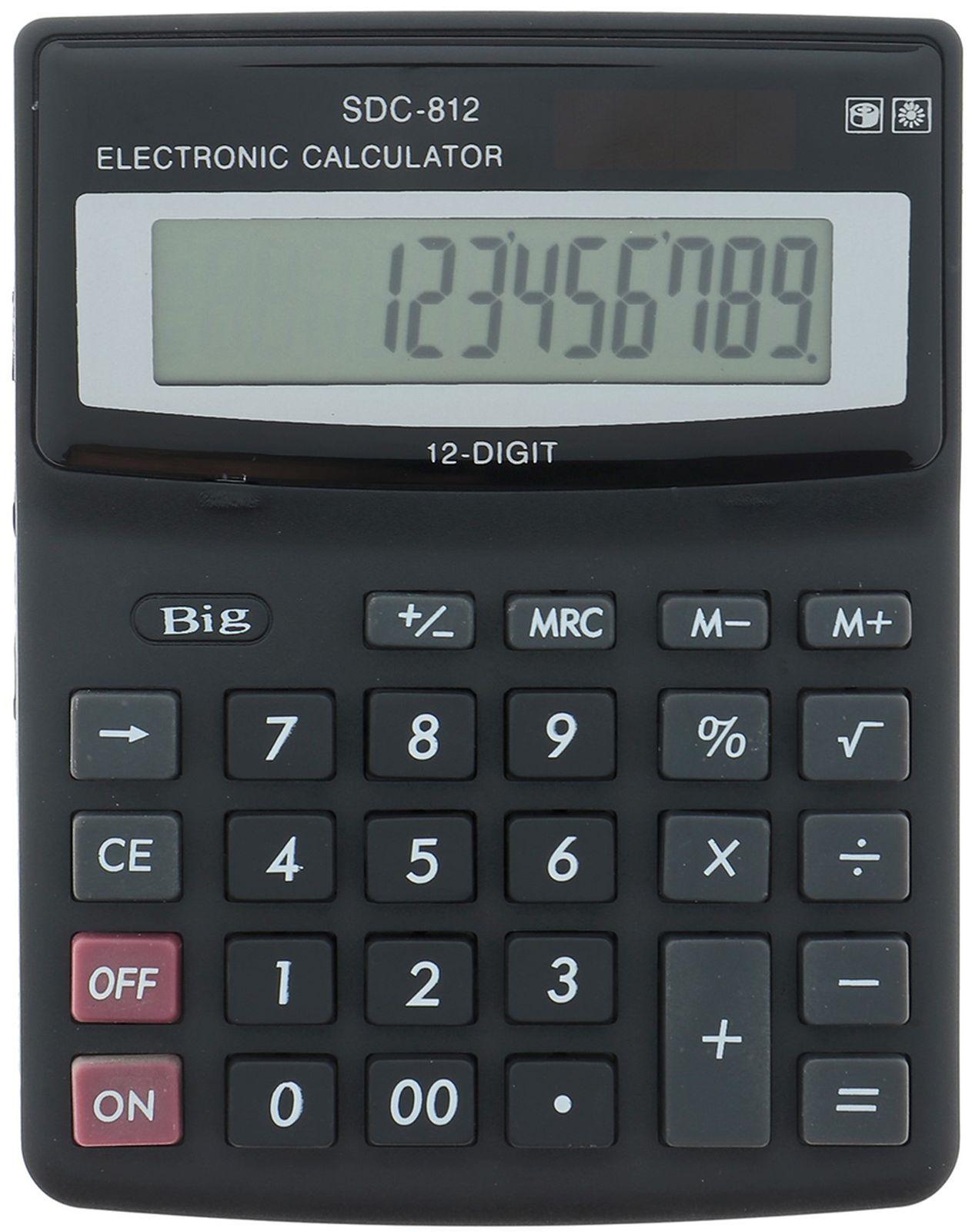 Калькулятор 812V, настольный, 12-разрядный, 649362, мультиколор