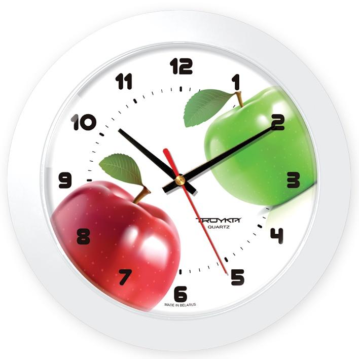 Настенные часы Troyka белый яблоки настенные часы яблоки pb 011 35