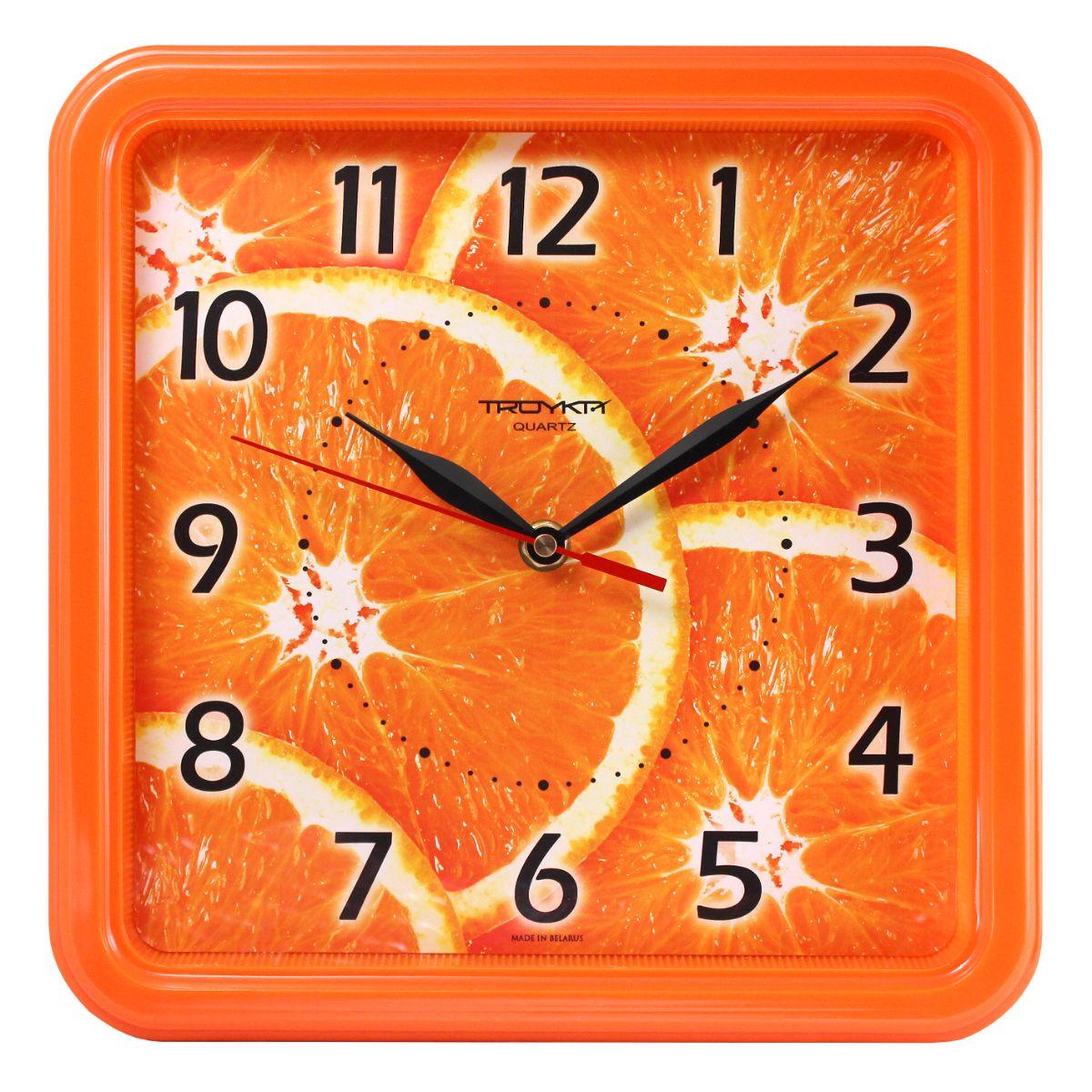Настенные часы Troyka оранжевый апельсины цена 2017
