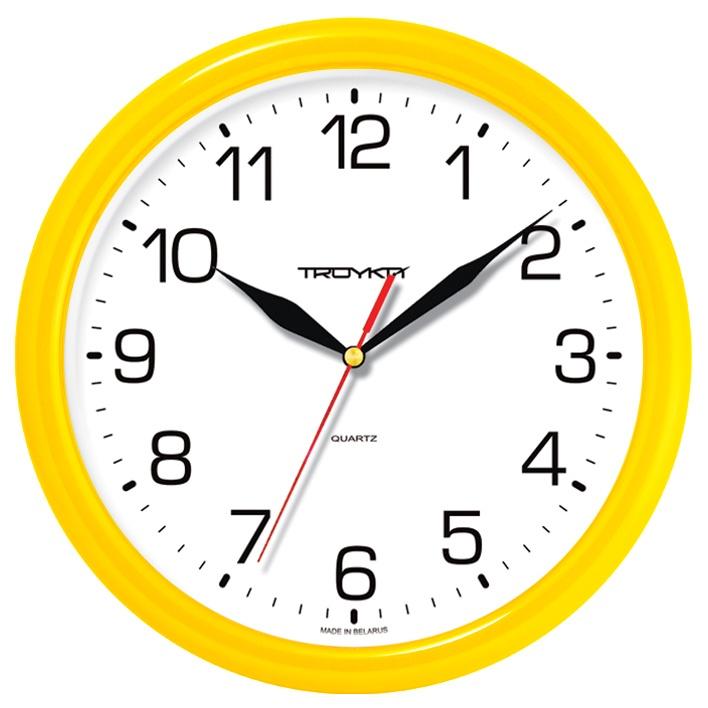 Настенные часы Troyka желтый цена 2017