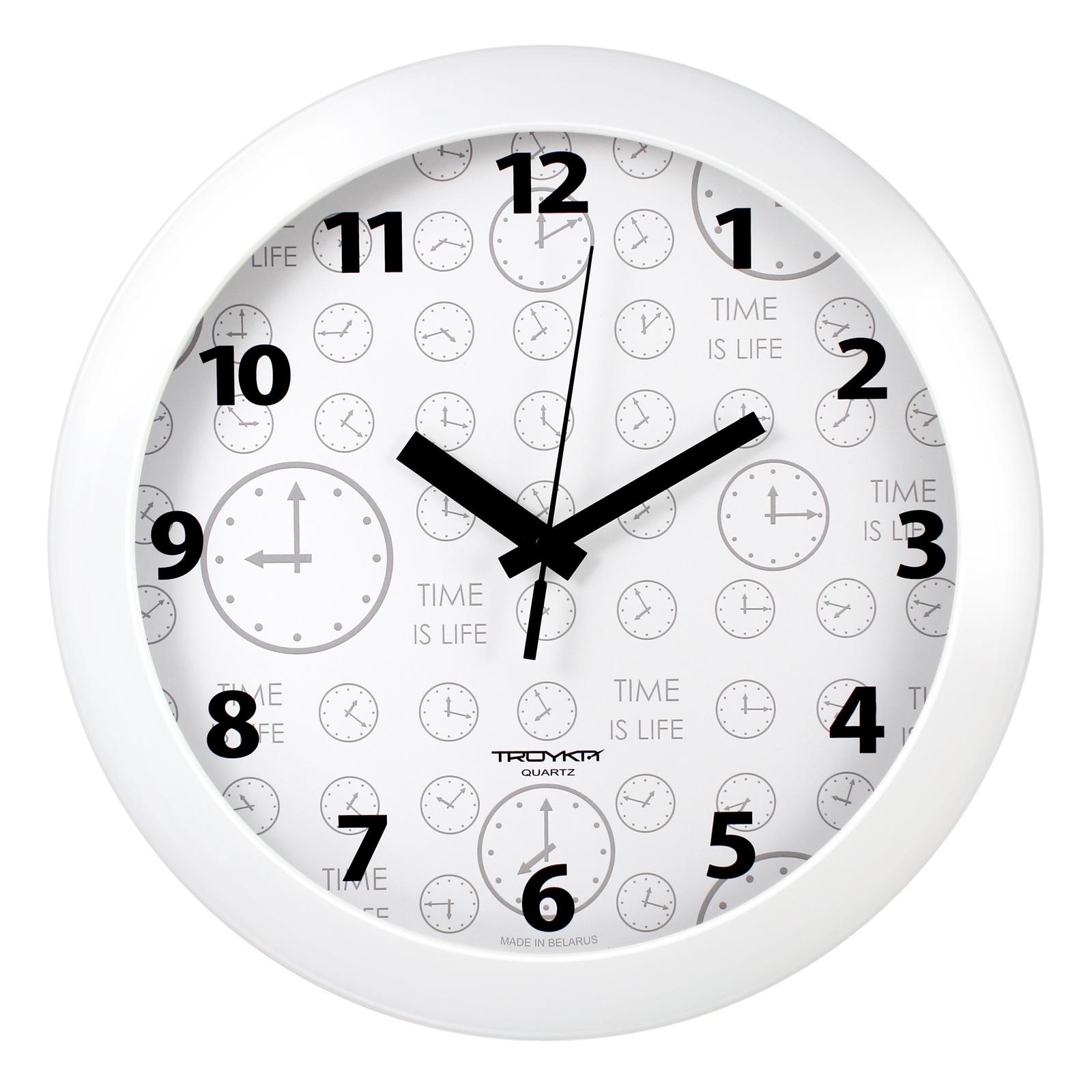 Настенные часы Troyka белый часики цена 2017