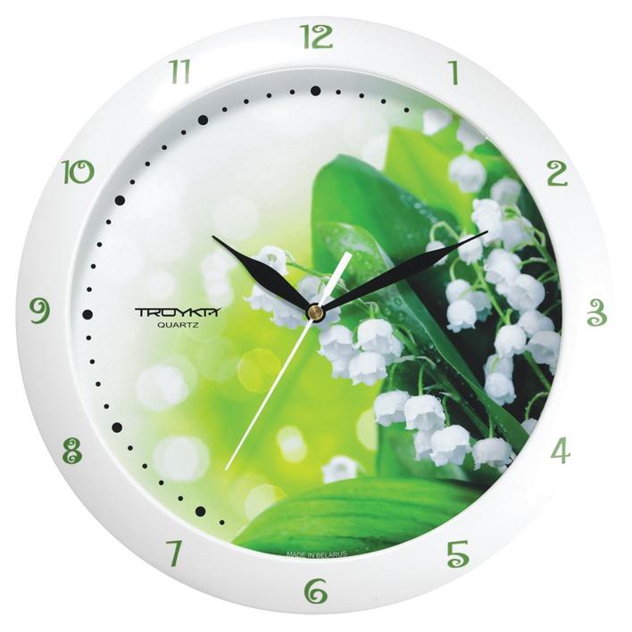 Настенные часы Troyka белый ландыши цена 2017