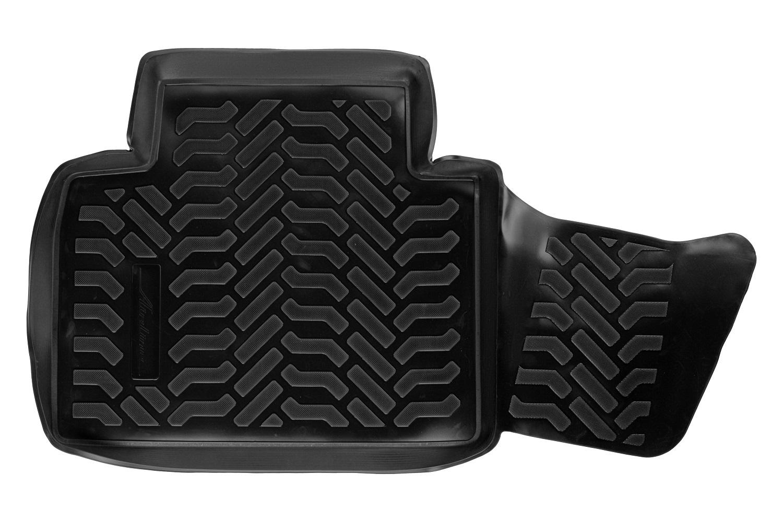 Ковры в салон (3D с подпятником) Nissan X-Trail (T32) (2014-) компл. 4 шт., высокий борт, полимерные, черные (ACM-PS-50)